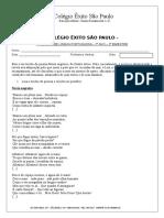 COLÉGIO ÊXITO SÃO PAULO 8 Ano Portugues 2 Bimestre II