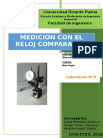 Laboratorio N°6 de  Metrologia- Reloj Comparador.docx