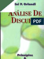ORLANDI, Eni P. Análise Do Discurso - Princípios & Procedimentos