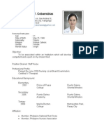 Resume for Hospitals