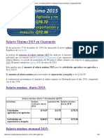 Salario Mínimo en Guatemala 2015 _ Contabilidad Puntual