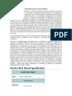 Resumen Dios No Esta Muerto
