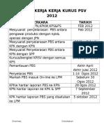 Jadual Kerja Pbs 2012