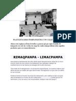 PLAZOLETA LIMACPAMPA -cusco