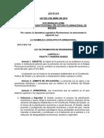 4. Ley n 516 Ley de Promocion de Inversiones