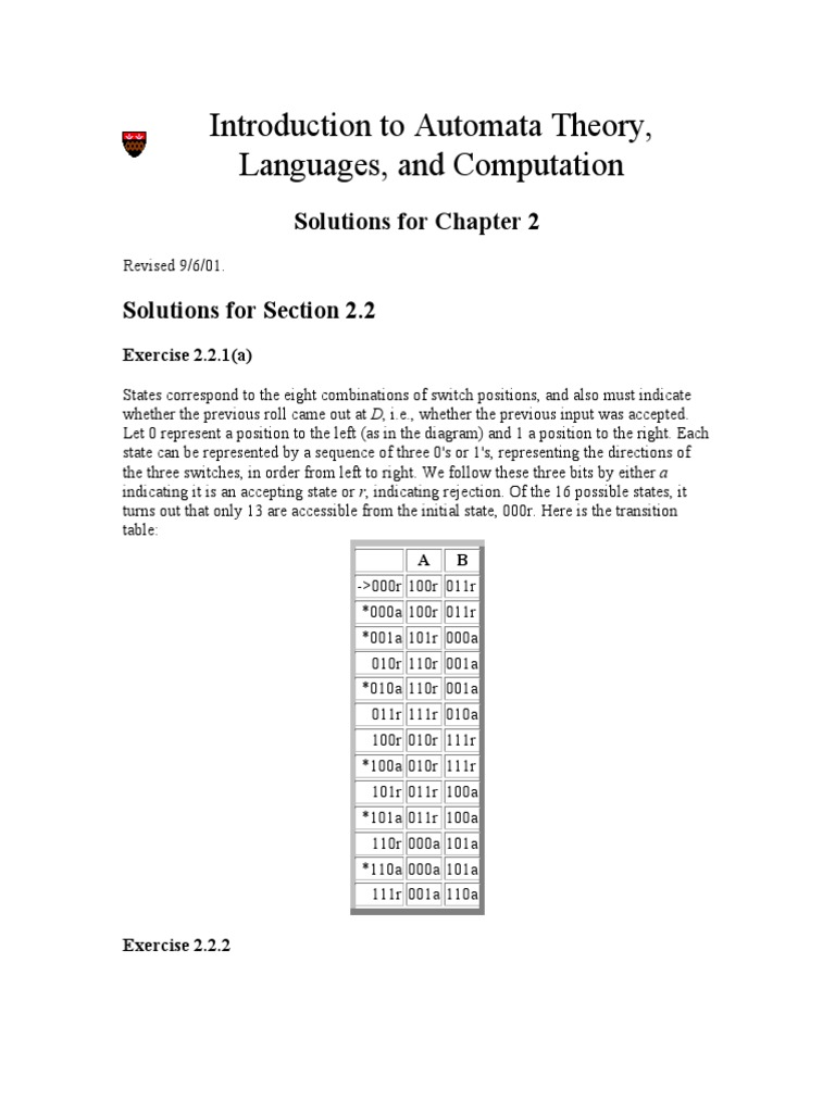 introduction to the theory of computation solution manual 2nd