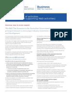 Australian R&D Tax credits
