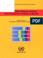United Nations Investor-state Disputes Arising From Investment Treaties- A Review (Unctad Series on International Investment Policies for Development) 2006