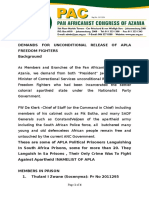 Demands for the Release of APLA Freedom Fighters 1