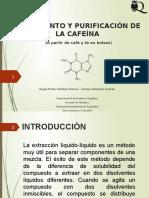 Aislamiento y Purificación de Cafeína a Partir de Té y Café 1