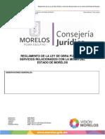 Reglamento a La Ley de Obra Publica Morelos