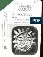 Shapiro - Hombre, Cultura y Sociedad