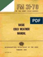 (1968) FM 31-70 Basic Cold Weather Manual