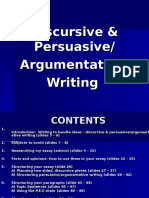 Discursive & Persuasive-Argumentative Writing
