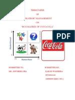 bcg matrix of coc-cola, india