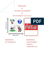 bcg matrix of coc-cola, india