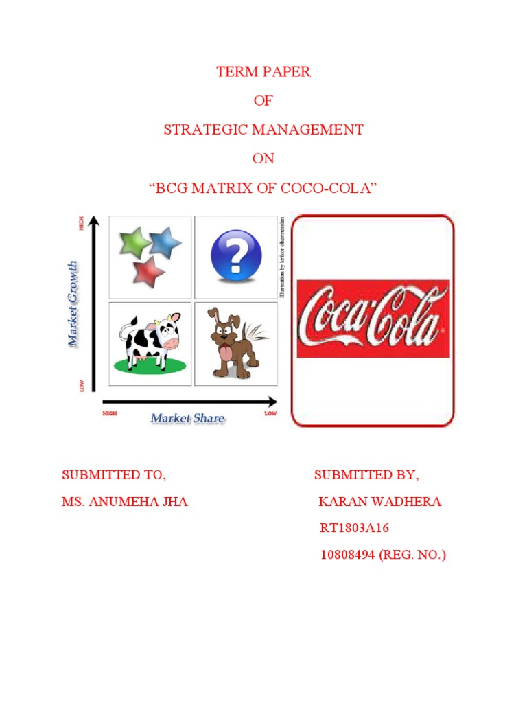 diet coke in bcg matrix Case study: coca cola integrated marketing communications published on march 11, 2015 which may include specialty beverages such as diet coke, cherry coke.