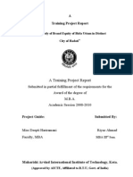 Mangalam Cement Ltd. Published By Riyaz Ahmad MBA (Brand Equity of Birla Uttam cement)