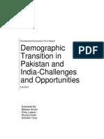Development Economics report on Pakistan and India