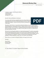 SMN Letter to Memorial