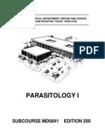 Parasitology i