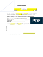 Modelo de Constancia de Quorum