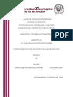Cuestionario de Contabilidad III Flujo de Efectivo