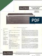 Altec 729A Acousta Equalizer