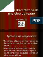 Proyecto 11 Lectura Dramatizada de Una Obra de Teatro
