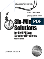 Six-Minute Solutions for Civil PE Exam Structural Problems
