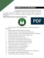 Listado de Herramientas de Seguridad