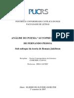 Crítica Análise Do Poema Autopsicografia de Fernando Pessoa