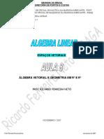 Algebra Linear - Álgebra Vetorial e Geometria Em r2 e r3