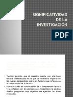 Ejemplos de Significatividad de La Investigacion