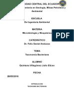 Quintana Villagomez Julio Eliceo Taxonomia Bacteriana