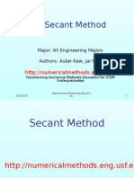 Secant Method