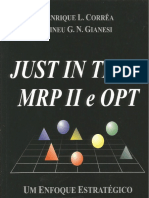 Just in Time - Mrp II e Opt - Ano 1993