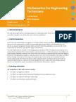 Unit 4 Mathematics for Engineering Technicians
