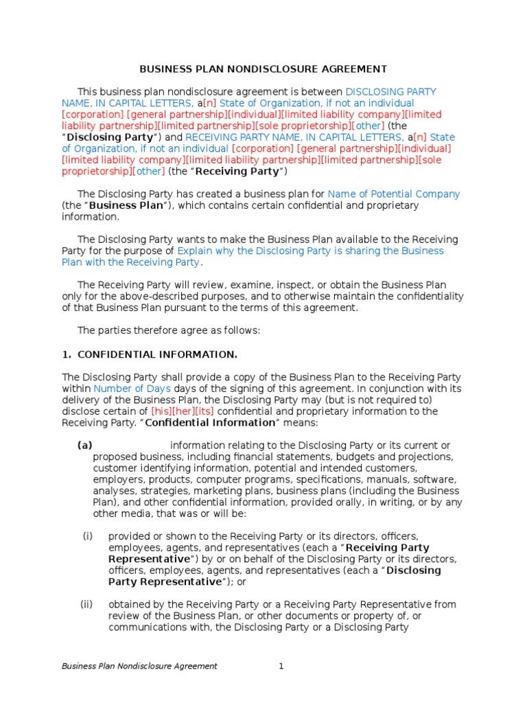 Luxury Beispiel Non Disclosure Agreement Motif - FORTSETZUNG ...