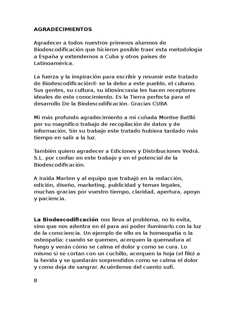 Tratado de Biodescodificaciòn - Corbera en Cuba