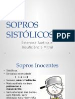 SOPROS SISTÓLICOS - semiologia médica