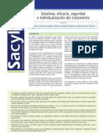 SACYLITE 2015 01 ESTATINAS_eficacia,Seguridad e Individualización Del Tratamiento