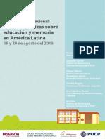 Seminario Internacional Políticas Sobre Educación y Memoria en América Latina