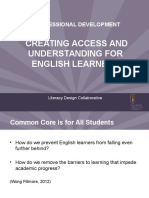 Creating Access and Understanding for English Learners