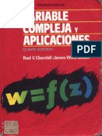 Variable Compleja y Aplicaciones, 5° ED. - Ruel V. Churchill & James Ward Brown