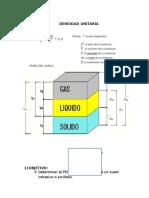 densidad unitaria