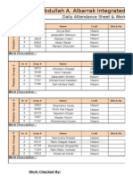 Work Schedule