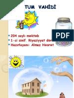 TUTUM  VAHİDİ