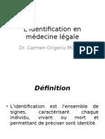 L'Identification en Medecine Legale