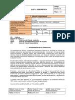 Carta Descriptiva Derecho Constitucional Colombiano